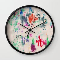 monet Wall Clocks featuring Monet Day by Ryan van Gogh