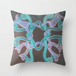 Bird and Flower Knot Throw Pillow