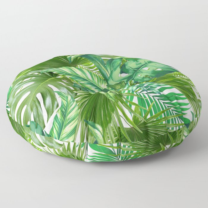 green tropic Floor Pillow