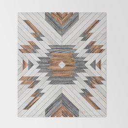 Urban Tribal Pattern No.8 - Aztec - Wood Throw Blanket
