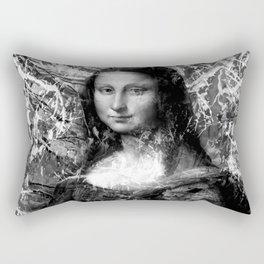 MONA LISA (BLACK & WHITE VERSION) Rectangular Pillow