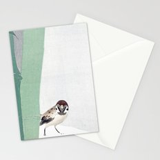 Bamboo in snow Stationery Cards