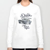 mustang Long Sleeve T-shirts featuring Mustang dream by dareba