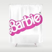 barbie Shower Curtains featuring Barbie Girl by RickyRicardo787