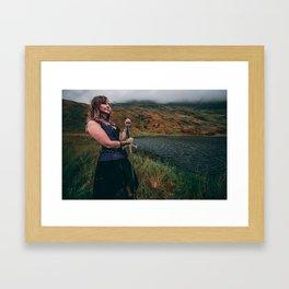Lady & The Loch v2 Framed Art Print