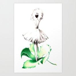 Dancer on the leaf Art Print