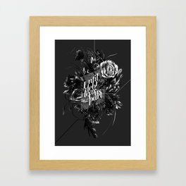 until debt tear us apart Framed Art Print