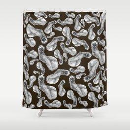 Kolinsky pattern Brown Shower Curtain