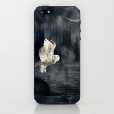 The owl and her mystical moon iPhone & iPod Skin
