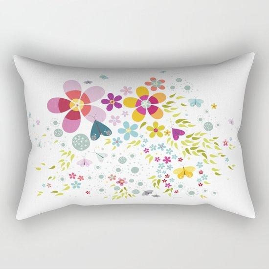 Schmetterlingswiese – Butterfly-Meadow Rectangular Pillow