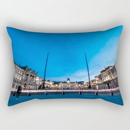 The square of Trieste during Christmas time Rectangular Pillow
