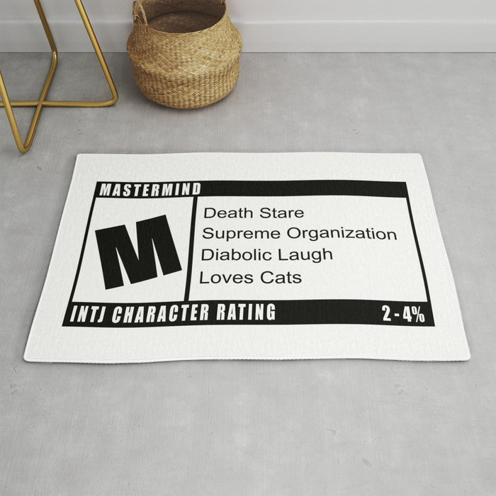 M is for INTJ Mastermind Introvert Rating Rug by yabo