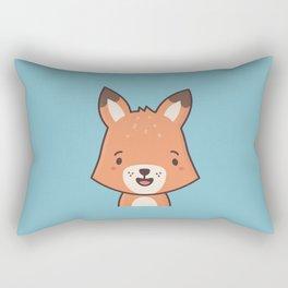 Kawaii Cute Red Fox Rectangular Pillow
