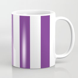 Eminence violet - solid color - white vertical lines pattern Coffee Mug