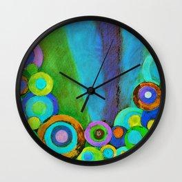 Evening Garden Wall Clock