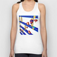 donkey kong Tank Tops featuring Inside Donkey Kong stage 4 by Metin Seven