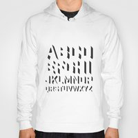 alphabet Hoodies featuring Alphabet by Art Goes Up