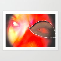 evil eye Art Prints featuring Evil Eye by Amber Dawn Hilton