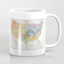 1874 Geological Map of the United States Coffee Mug