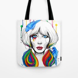 Zooey - Twisted Celebrity Watercolor Tote Bag