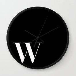 Initial W Wall Clock