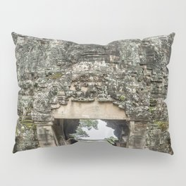 Leaving Through the Angkor Thom South Gate, Siem Reap, Cambodia Pillow Sham