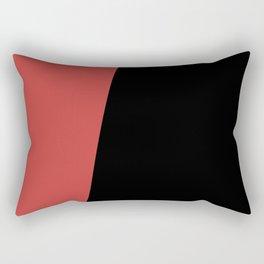 Stripes Black Muted Red Asymmetrical Rectangular Pillow