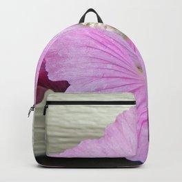 Pink Musk Mallow Pollen Overflow Backpack
