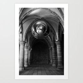 Silent Moment at Mont Saint-Michel Art Print