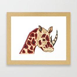 Rhinoceraffe Framed Art Print