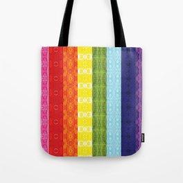 TorsoPattern Gay Pride Flag (Original 8-Color) Tote Bag