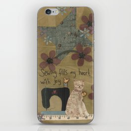 Stitched By Me iPhone Skin