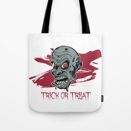 Halloween Zombie: Trick or Treat Tote Bag