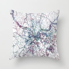 Pittsburgh map Throw Pillow