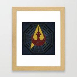 Lost Trek Wars: Square Variant Framed Art Print