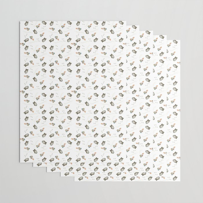 Harry the Owl Pattern Wrapping Paper