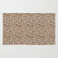 leopard Area & Throw Rugs featuring Leopard by Zen and Chic