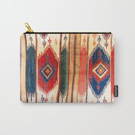 Aksaray Antique Cappadocian Turkish Kilim Print Carry-All Pouch