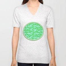 Green fish Unisex V-Neck