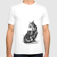 Mousey Mousey MEDIUM White Mens Fitted Tee