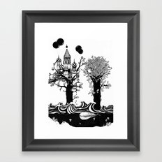 The Whale and The Balloons Framed Art Print