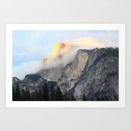 Golden Peak Art Print
