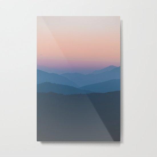 Sunset over Nepal Metal Print