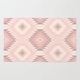 Pastel Pink & Coral Navajo Rug