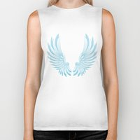 angel wings Biker Tanks featuring wings by Li-Bro
