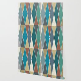 Mid Century Modern Diamonds (Large) Wallpaper