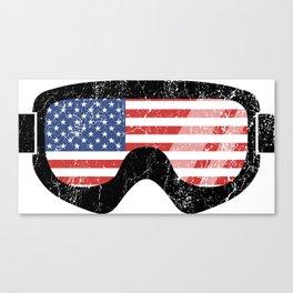 American Goggles - Distressed Black   Goggle Designs   DopeyArt Canvas Print