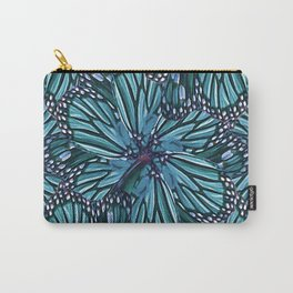 Modern Floral Collage Pattern Carry-All Pouch