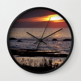 Surreal Seaside Sunset Wall Clock