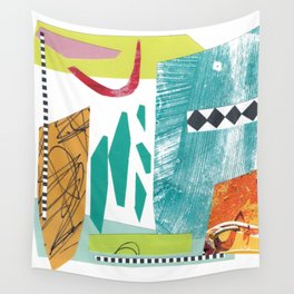 Moving Parts Collage Wall Tapestry